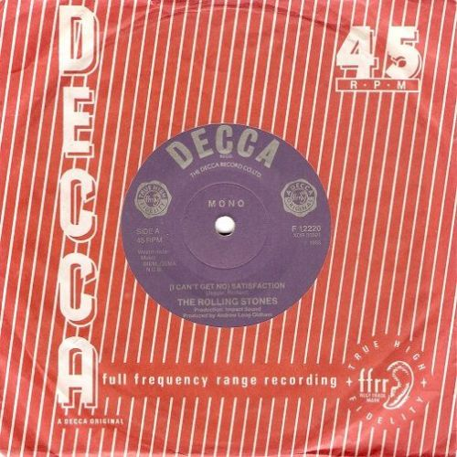 THE ROLLING STONES (I Can't Get No) Satisfaction Vinyl Record 7 Inch Decca